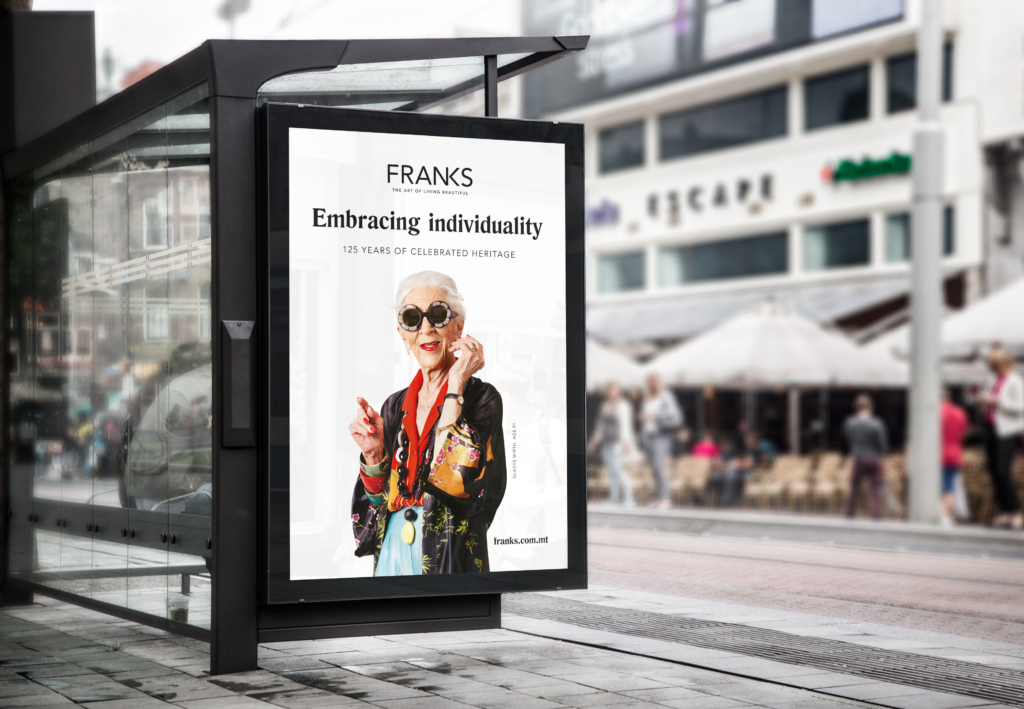 franks bus shelter campaign