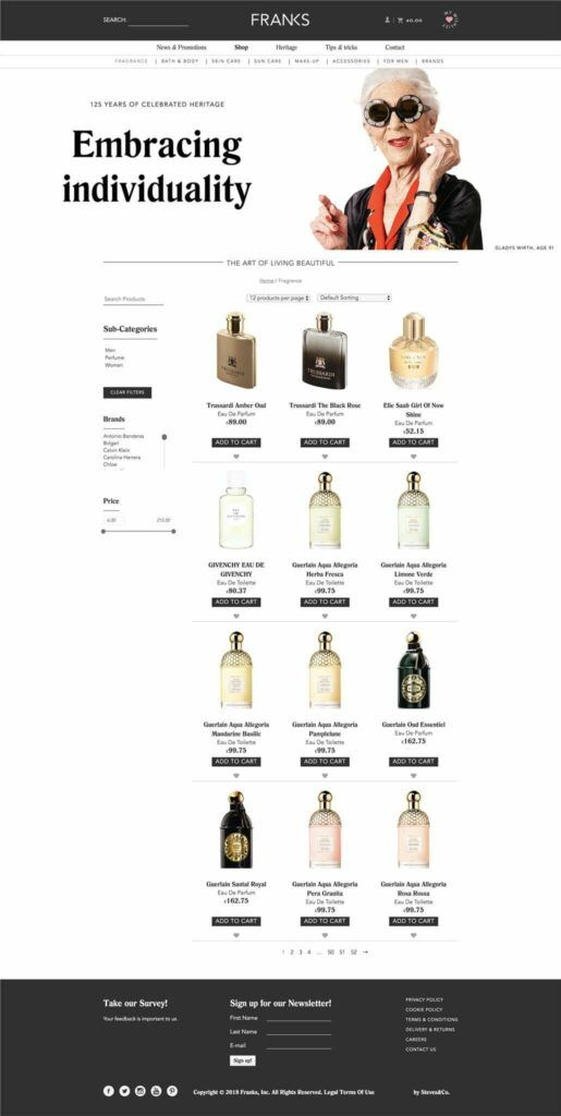 FRANKS Website Showcase