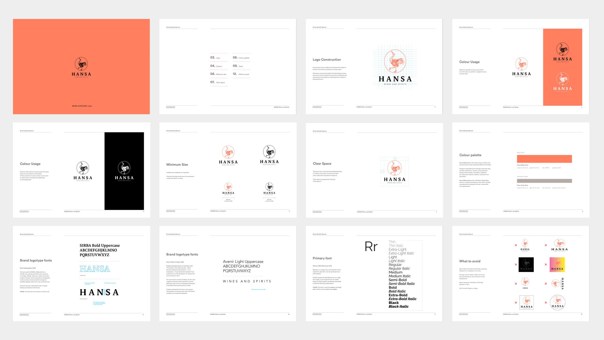 hansa rebranding and brand guidelines