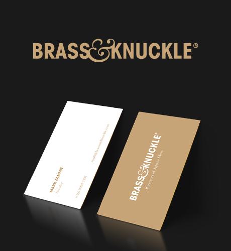 brass and knuckle brand design