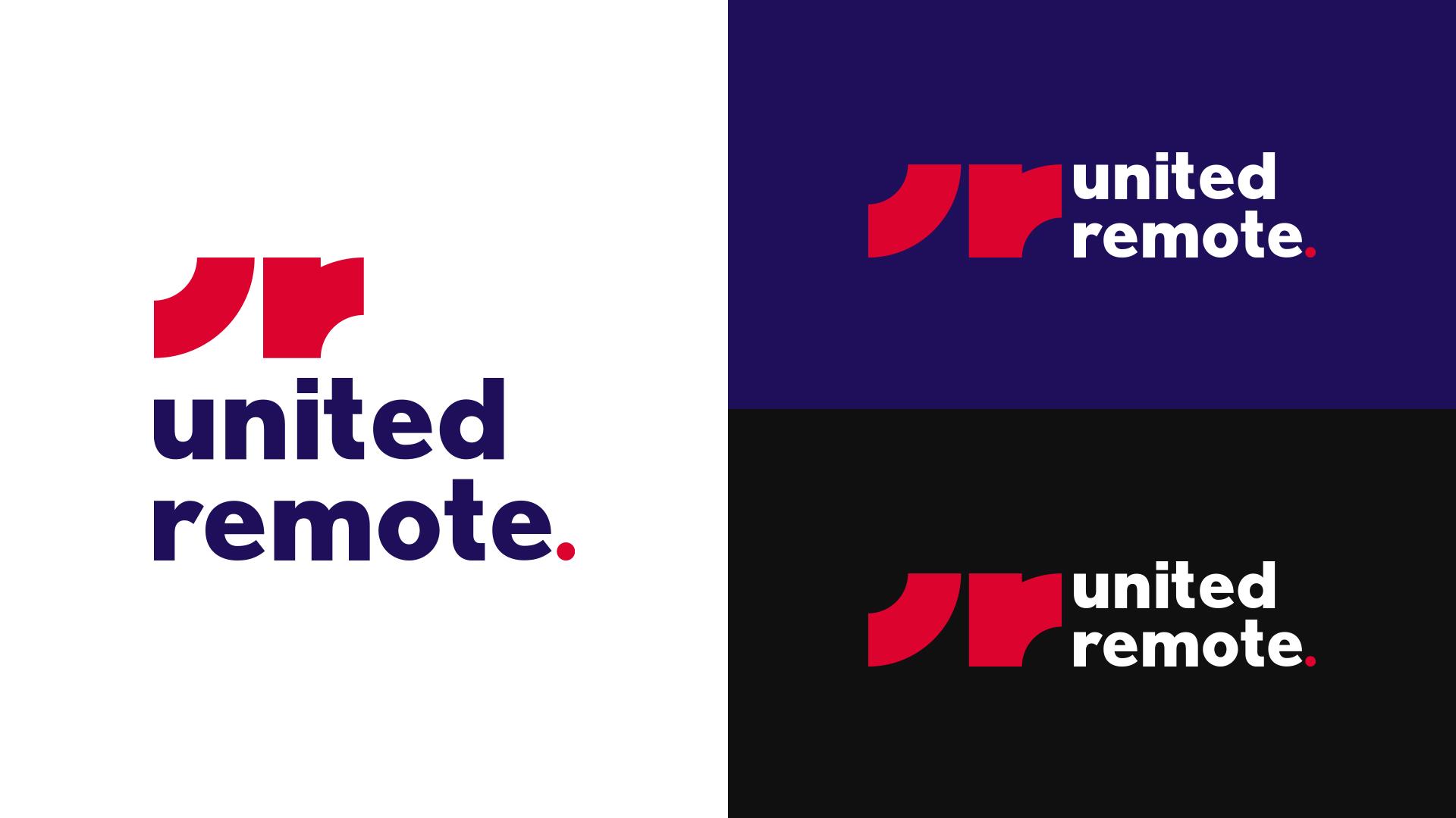 united remote logo design